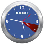 Facebook klok — Stockvector