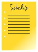 Schedule — Stock Vector