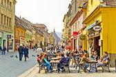 Centro storico di brasov — Foto Stock