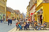 Historische centrum van brasov — Stockfoto