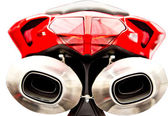 Motorcycle Mufflers — Stock Photo