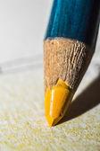 Yellow Crayon — Stock Photo