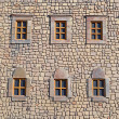 Fortress Windows - Stock Photo