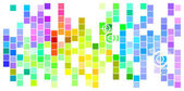 Colored Mosaic — Stock Vector