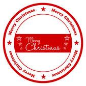 Placa de navidad feliz — Vector de stock