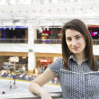 Girl Portrait In Shopping Mall — Stock Photo
