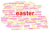Easter Cloud — Stock Vector