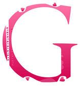 G письмо — Cтоковый вектор