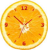 Horloge de la tranche d'orange — Photo