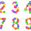 Stock Vector: Spring Flowers Numbers
