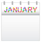 Calendar January — Stock Vector