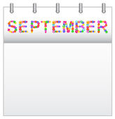 Calendar September — Stock Vector