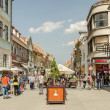 Brasov Medieval Streets - Stock Photo