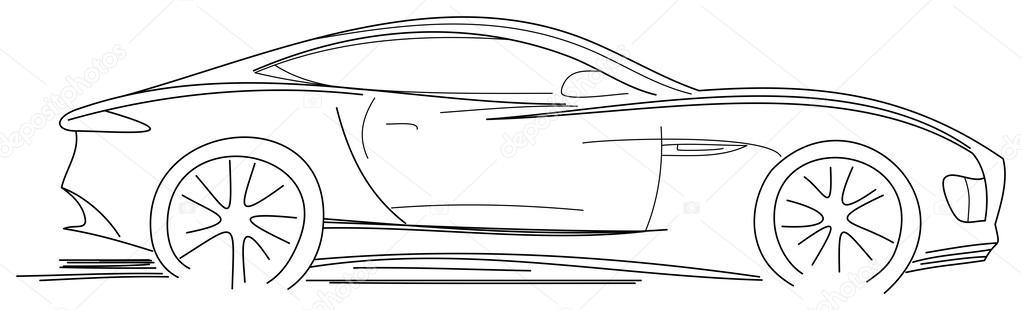 Sport auto skizze stockvektor radub85 24897697 for Schets programma