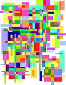 Abstracte kleurrijke rechthoeken — Stockvector