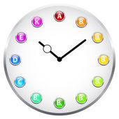 Vitamin Clock — Stock Vector
