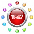 Healthy Eating — Stock Vector