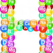 Vitamin Letter H — Vector de stock #25893787