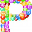 Vitamin Letter P — Stockvectorbeeld