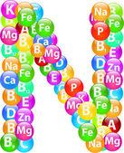 витамин буква n — Cтоковый вектор