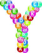 Vitamin harf y — Stok Vektör