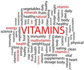 Vitamins Word Cloud — Stock Vector