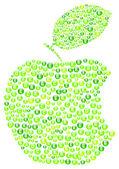 Grönt äpple bita — Stockvektor