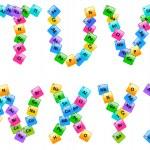 周期表中的元素字母表字母 t-z — 图库矢量图片 #26097685