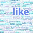 Social Media Word Cloud — Stock Vector