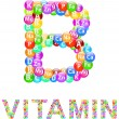 Stock Vector: Vitamin B