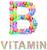 Vitamin B — Stock Vector