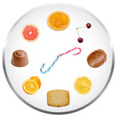 Nutrition Clock Concept — Stock fotografie