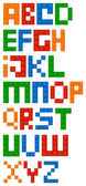 Building Blocks Alphabet Font — Stock Vector