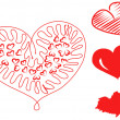 Hand Drawn Hearts — Stock Photo #28930133