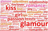 Glamour Word Cloud — Stock Vector