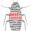 Pest Control Word Cloud — Stock Vector