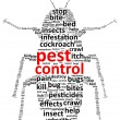 Pest Control Word Cloud — Stock Vector #29050081