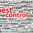 Stock Vector: Pest Control Word Cloud