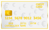 European Union Euro Credit Card — Stock Vector