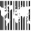 Shopping Bar Code With World Map — Stock Vector