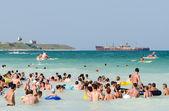 People Have Fun On The Beach — Stock Photo