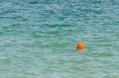 Orange Buoy In Ocean — Stock Photo