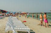 People Have Fun At The Black Sea — Stock Photo