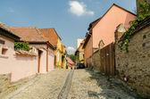 Medieval Street In Sighisoara — Stock Photo