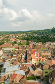 Sighisoara Medieval Fortress Aerial View — Stock Photo