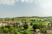 Rural Village In The Carpathian Mountains Aerial View — Stock fotografie