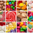 Sweet Background Collage — Stock Photo