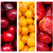 Stock Photo: Fresh Summer Fruits Collage