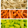 Fresh Vegetables Collection Set — Stock Photo