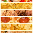 Delicious Food Collage — Stock Photo